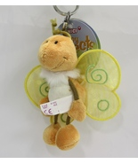 "NICI Buttefly Yellow Insect Bug Plush Toy Beanbag Key Chain Keyring 4"" - $6.99"