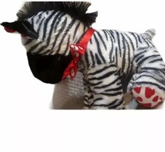 "14"" DAN DEE COLLECTORS CHOICE Valentine Plush Stuffed Zebra Lovey Red He... - $19.79"