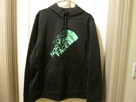 The North Face womens Half Dome Green Logo Zipper Hoodie Jacket 2XL - $44.00