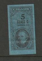 US Tobacco - Cigars Revenue Stamp 1943, 5 Class C  Series 113 Very Fine  - $4.46