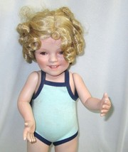 Shirley Temple Bathing Beauty Toddler Doll Danbury Mint 17 Inches Tall Porcelain - $24.95