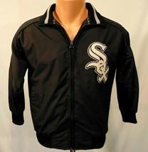 Chicago White Sox MLB Youth Jacket Size S Vintage Majestic Sewn Black Nylon - $25.39