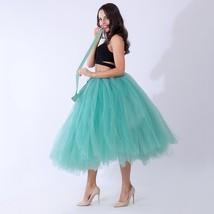 Women Puffy Tutu Skirt Drawstring High Waist Long Tulle Skirt Petticoat One Size image 8