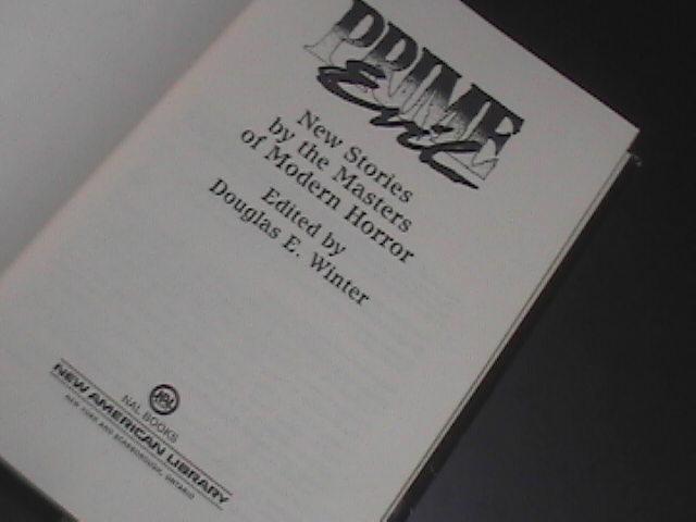 Prime Evil First Printing 1988 Stephen King Peter Straub Clive Barker HCDJ