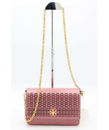 NWT Tory Burch Kira Perforated Pink Leather Shoulder Crossbody Bag New - $366.39