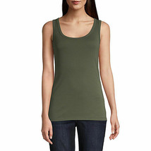 NWT OLIVE   Sleeveless  Shell Blouse Tank Top MEDIUM - $11.88