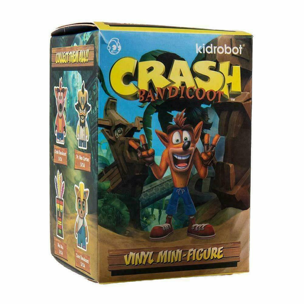 "Kidrobot Crash Bandicoot 3"" Vinyl Mini Series Single Sealed Blind Box TTLCG123"