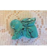 Carved Desert Bunny Rabbit Turquoise - $10.00