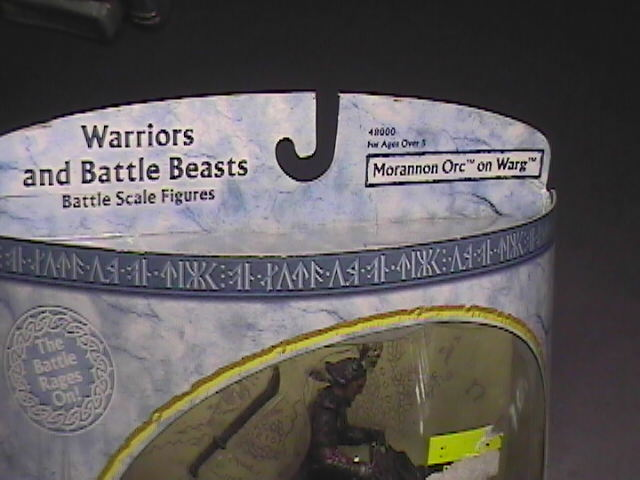 Toy lord of the rings action figure warrier and battlebeasts morannon orc on warg 01