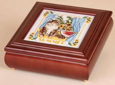 Black Betsy Box wooden box 5x5 cross stitch Sudberry House