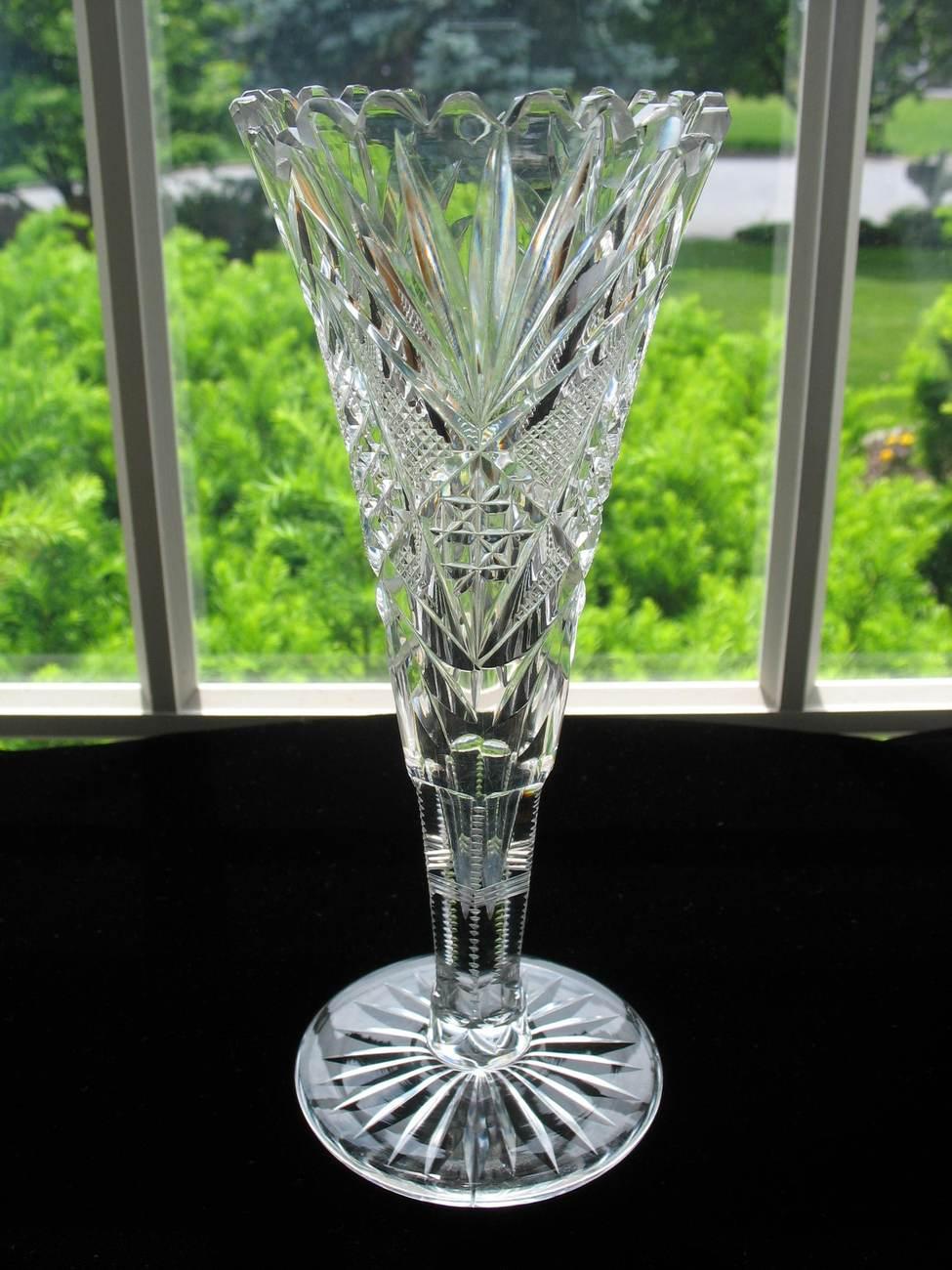 Brilliant Cut Glass Vase