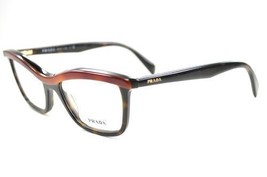 New Prada Eyeglasses PR17PV MA41O1 52 Women Cat Eye Light and Dark Havan... - $118.79