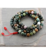 Fancy Jasper Tibetan 108 Bead Mala.. - $44.55