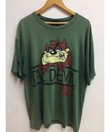 Vintage Warner Bros Studio Store Tazmanian Devil Big Cartoon Logo Green ... - $45.00