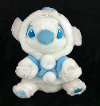 "Disney SNOWBALL STITCH blue/white 12"" plush w/winter hoodie coat Lilo & ... - $30.95"