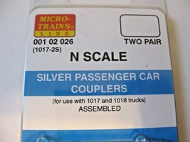 Micro-Trains Stock #00102026 Passenger Car Couplers Silver For 1017 & 1018 Truck image 2