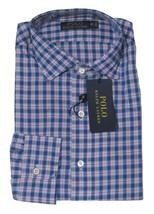 Polo Ralph Lauren Plaid Oxford Estate Shirt, Blue/White, Size L, MSRP $125 - $69.29
