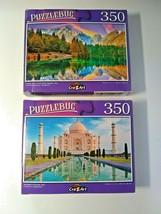 Fusine Lake Mt Mangart Italy and Taj Mahal Sunrise Jigsaw Puzzles 350 Pc... - $14.85
