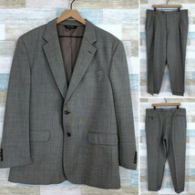 Jos A Bank Wool Two Button Suit Taupe Gray 2 Piece Mens 46R Jacket 41R P... - $108.89
