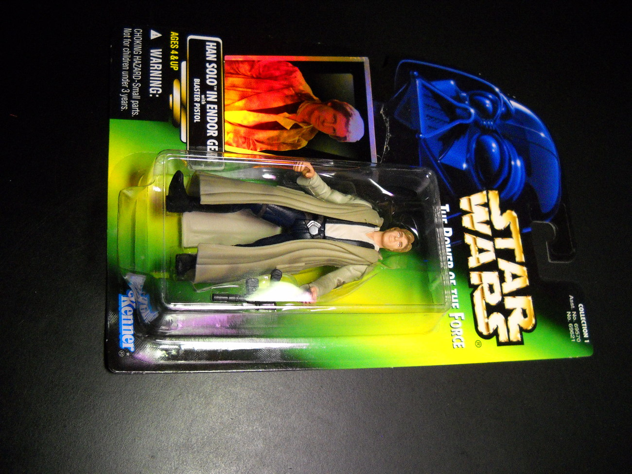 Toy star wars action figure potf green card hans solo 01