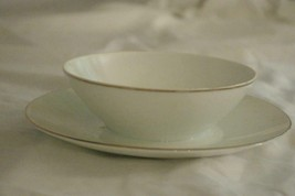 Rosenthal 1977 Classic Platinum Gravy Boat With Attached Under Plate - $13.85