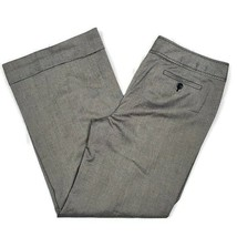 NWT LOFT Womens Dress Pants 14 Ann Gray Cuffed Flare Buckle Detail Caree... - $23.99