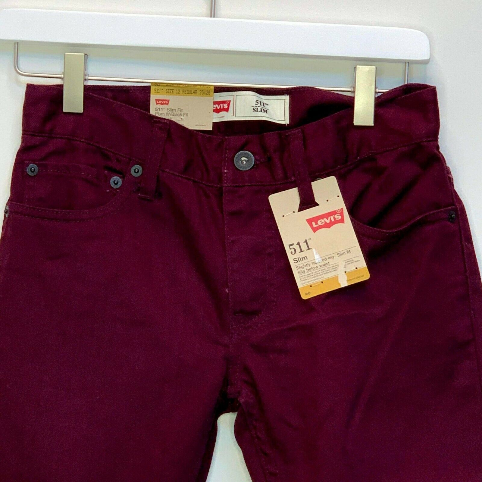 Primary image for Levi's 511 Boys Slim Fit Purple Jeans Size 12