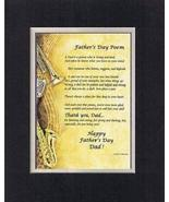 Touching and Heartfelt Poem for Fathers - Father's Day Poem on 11 x 14 i... - $15.79