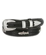 "American Bison Genuine Leather Fishing Ranger Golf Belt, Size 32""-50"" - $46.48+"
