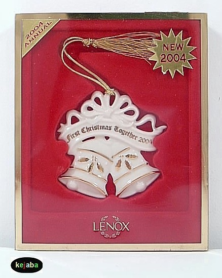 Lenox 2004 First Christmas Together Bell Ornament Mib