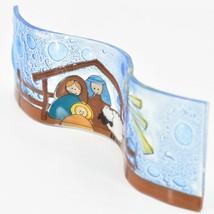 Fused Art Glass Christmas Nativity Star Wavy Décor Sun Catcher Handmade Ecuador image 2