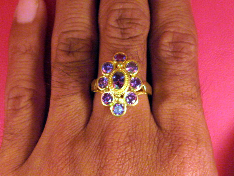 Vintage 14k solid yellow gold with Ruby & Diamond ring size 10