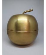 large, vintage, mid century. brass apple, shelf decor, paper weight, tri... - $29.95