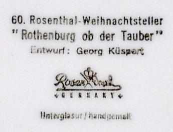 Rosenthal 1969 Christmas Plate