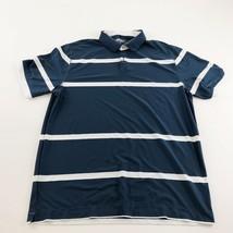 Nike Golf Xl Polo BLUE/WHITE Xl Dri-FIT Tour Performance Mens Stripe - $19.75