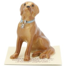 Hagen Renaker Dog Labrador Retriever Sitting Golden Ceramic Figurine