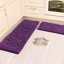 Kitchen Rugs Sets Bathroom Mats Carpet 2 Piece Purple Floor Absorbent Wa... - $60.27