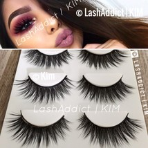 3 GLAM Mink Lashes 3D Eyelashes Siberian Fur Makeup Extension • US SELLER - $8.95