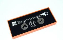 Hermes Berloque Olga Silver Charm Bag Amulette Cadena Palladium Berloque... - $2,366.10