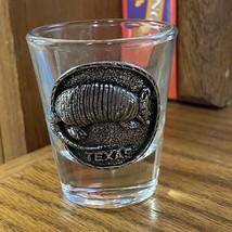 Texas Armadillo Shot Glass Anchor Hocking TX Texan - $12.86