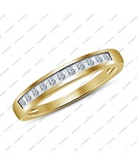 Princess Cut White Cz 925 Sterling Silver Yellow Gold Fn.Engagement Wedd... - $45.99