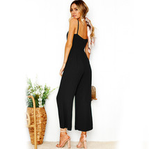 Umpsuit 2018 summer women ankle length pants bodysuits solid fashion higt waist rompers thumb200