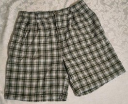 VINTAGE TOMMY HILFIGER MENS PLEATED PLAID SHORTS SIZE 34 - $19.80