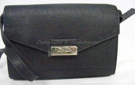 NWT Cole Haan Amalia Mini Smartphone Crossbody Bag in Black Saffiano Lea... - $115.00