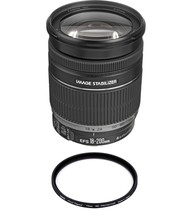 CANON EF-S 18-200mm F3.5-5.6 IS (White Box) + HOYA 72mm PRO 1D Protector - $503.84