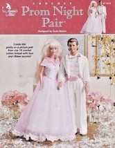 Prom Night Pair Crochet Barbie™ Ken Tuxedo Blouse Tiara Pants Jacket Shoes Shirt - $12.82