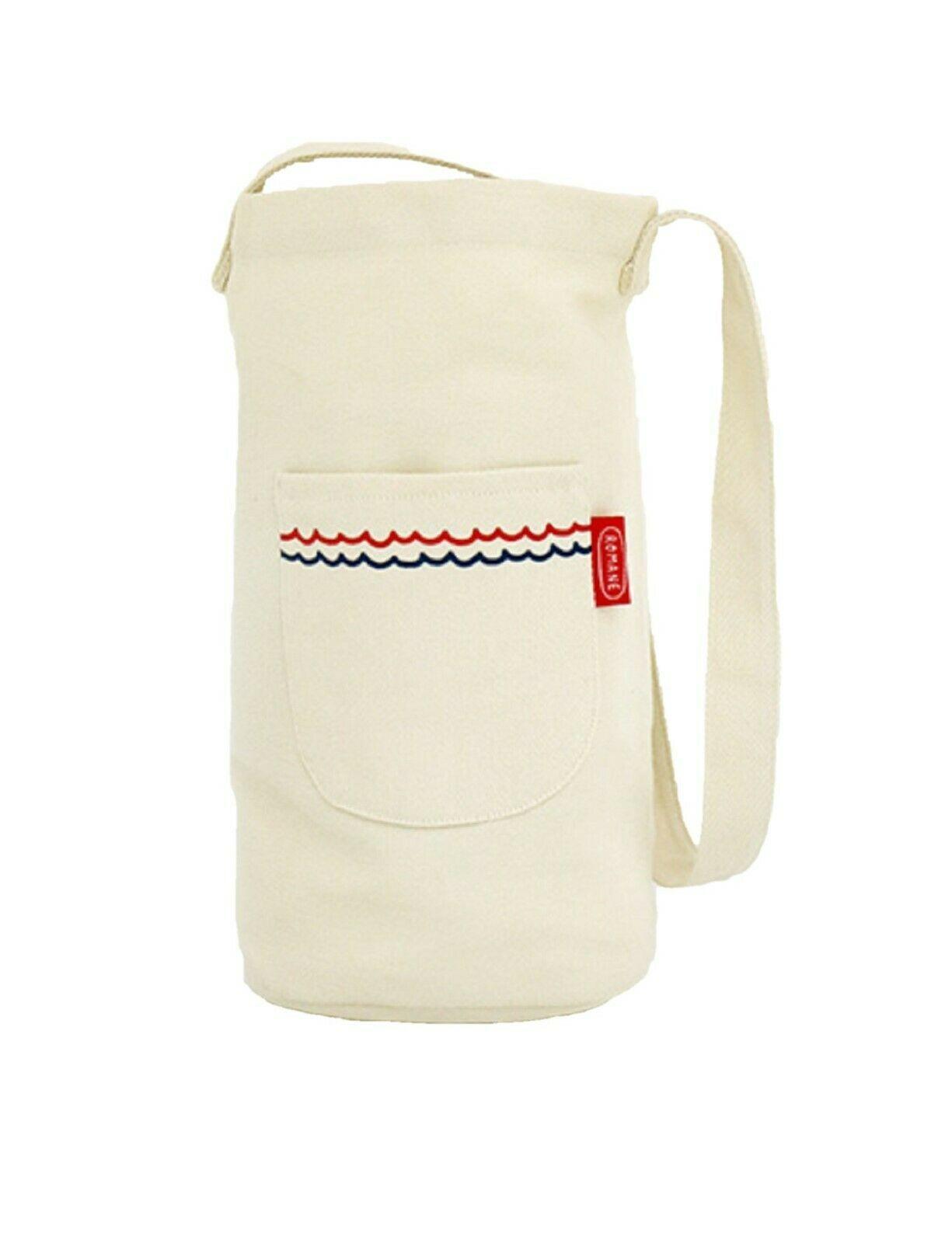 Romane Baguette Tote Bag Cotton Canvas Eco reusable Daily Shopper Bag (Ivory)
