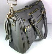 Erica Anenberg Grey Leather Cross Body Satchel Shoulder Bag image 4