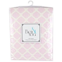 Kushies Baby Flannel Fitted Crib Sheet Pink Lat... - $27.03