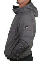 Bench Ahlo Black Charcoal Grey Quilted Lightweight Winter Jacket Hood BMKA1469 image 4